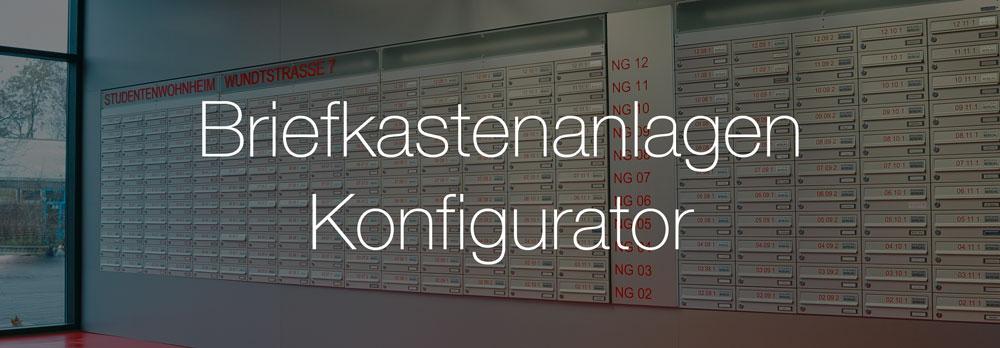 Konfigurator für Briefkastenanlagen von Knobloch