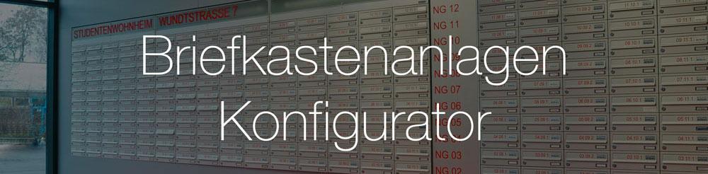 Konfigurator für Knobloch Briefkastenanlage