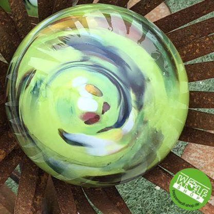 Glaskugel grün für Metallblume