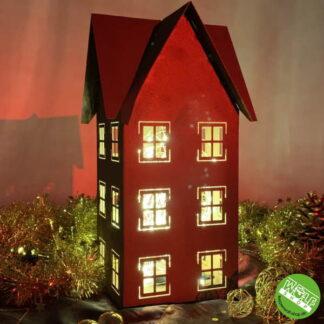 Weihnachtsdeko Haus aus Metall