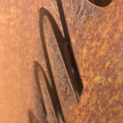 Stele aus Cortenstahl
