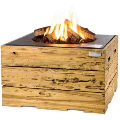 Feuertisch Driftwood / Treibholz, quadratisch