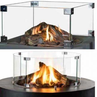 Glasschirm für Feuertisch