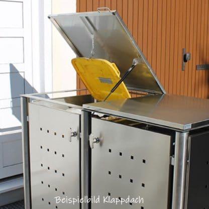 Klappdach einer Mülltonnenbox
