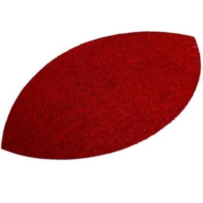 Fußmatte Blattform rot