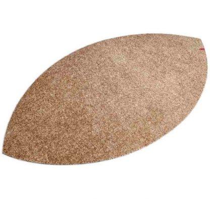 Fußmatte Blattform sand