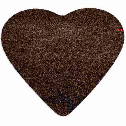 Fußmatte Herz braun
