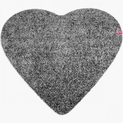 Fußmatte Herz dunkelgrau