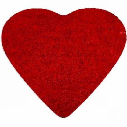 Fußmatte Herz rot