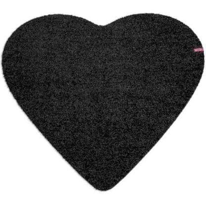Fußmatte Herz schwarz