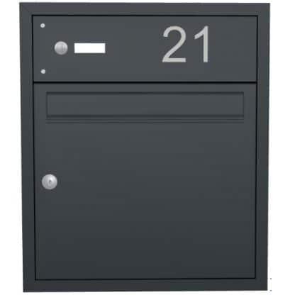 Briefkasten mit Klingel von Knobloch - Unterputz