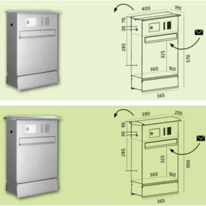Briefkasten Likno von Knobloch, Tür rückseitig