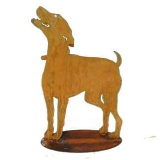 Hund Edelrost auf Platte