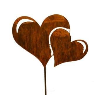 Gartenstecker zwei Herzen