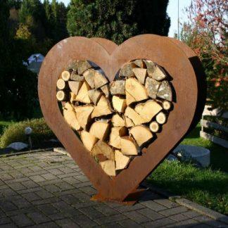 Großes Holzregal Herz