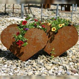 Pflanzgefäß doppeltes Herz