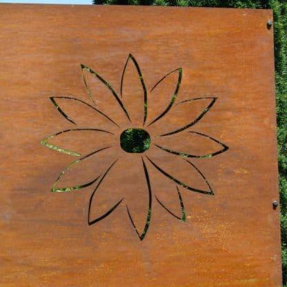 Sichtschutz mit Blüte