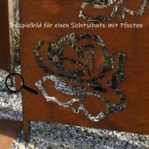 Befestigung - Pfosten für Sichtschutz-Tafel