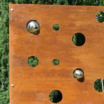 Sichtschutz Tafel Kreise mit Kugeln