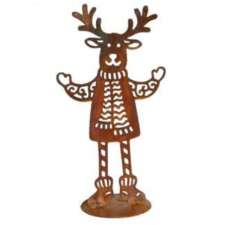 Metalldeko Rentier Rudolph