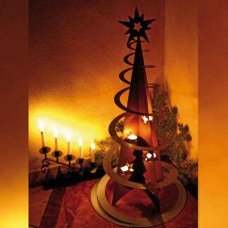 Ferrum Art Weihnachtsbaum mit Spirale